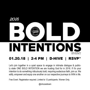 2018 BOLD INTENTIONS Event
